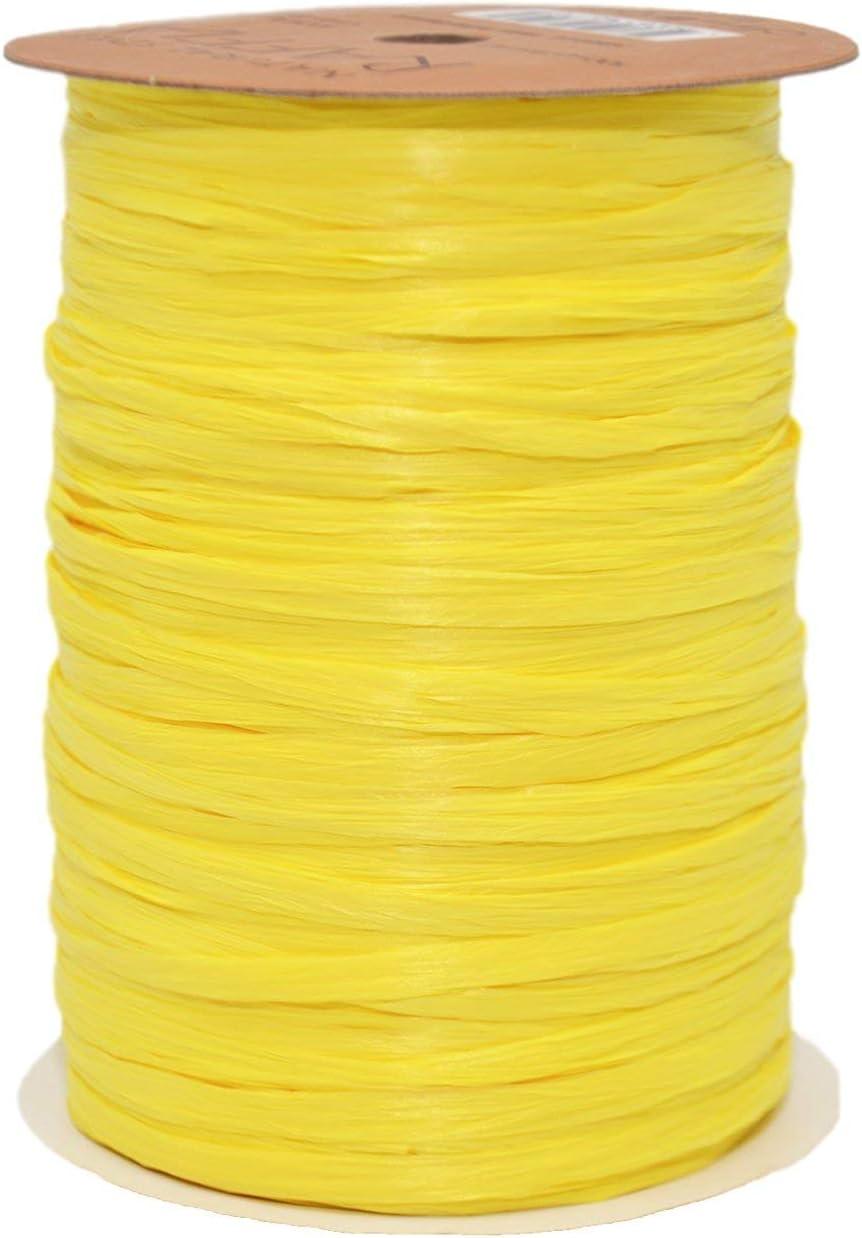 Champagne 100-Yard Morex Ribbon Rayon Raffia Ribbon Spool