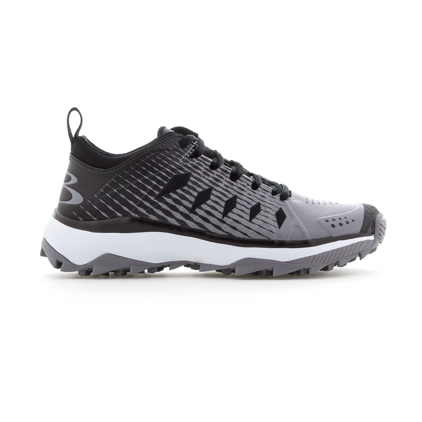 Boombah Women's Squadron Turf Shoes - 14 Color Options - Multiple Sizes B079K68YDT 6|Black/Gray