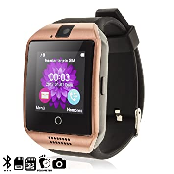 Silica DMV085GOLD - Smartwatch Q18 Gold: Amazon.es: Electrónica