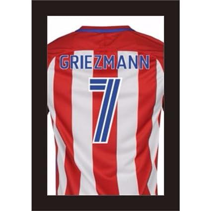 3d DIY marcos para pantalla firmado fútbol T camisas para atlético de madrid Club de fútbol