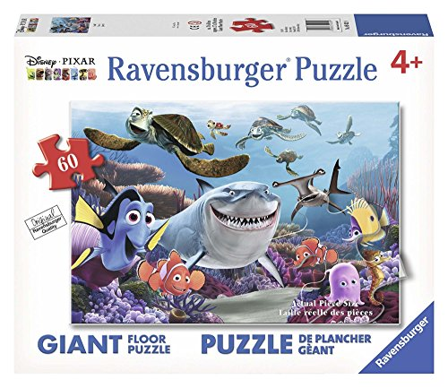 Ravensburger Disney Finding Nemo Smile 60 Piece Floor Jigsaw Puzzle for Kids - Every Piece is Unique, Pieces Fit Together Perfectly