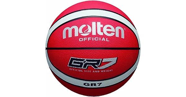 Amazon.com: Molten – Pelota de baloncesto, color rojo y ...