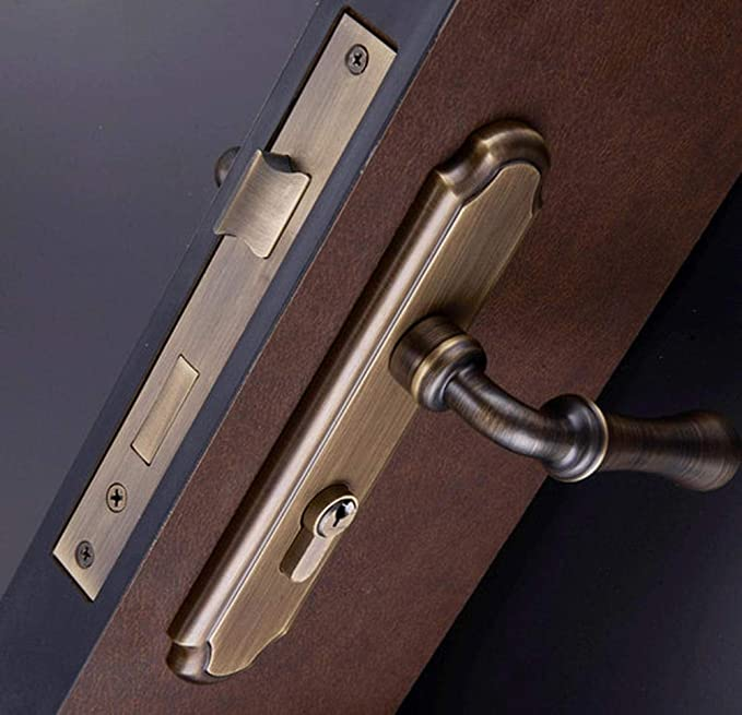 1 juego de bronce macizo latón cerraduras de las puertas ...