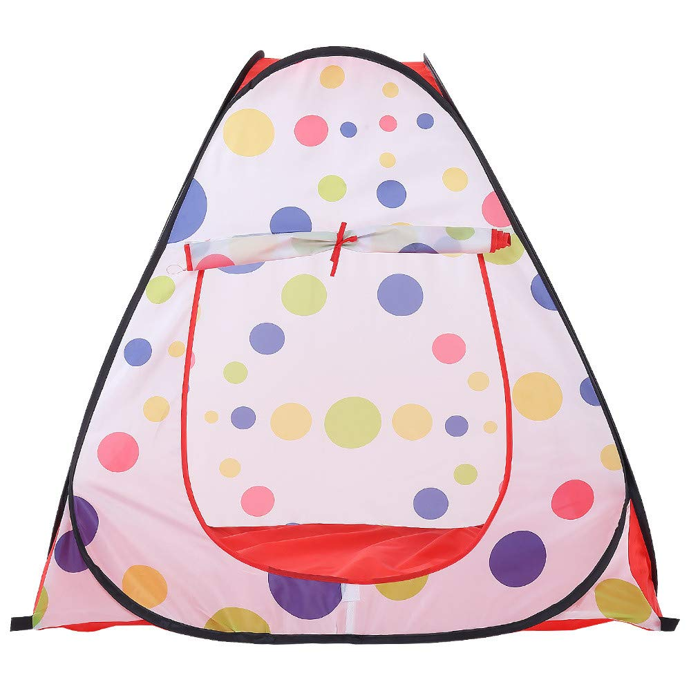 Sviper Kids Play Tunnels Kids Play Tent Polka Dot Pattern Indoor Toys Children Playhouse Portbale Pop Up Tunnel Gift Toy