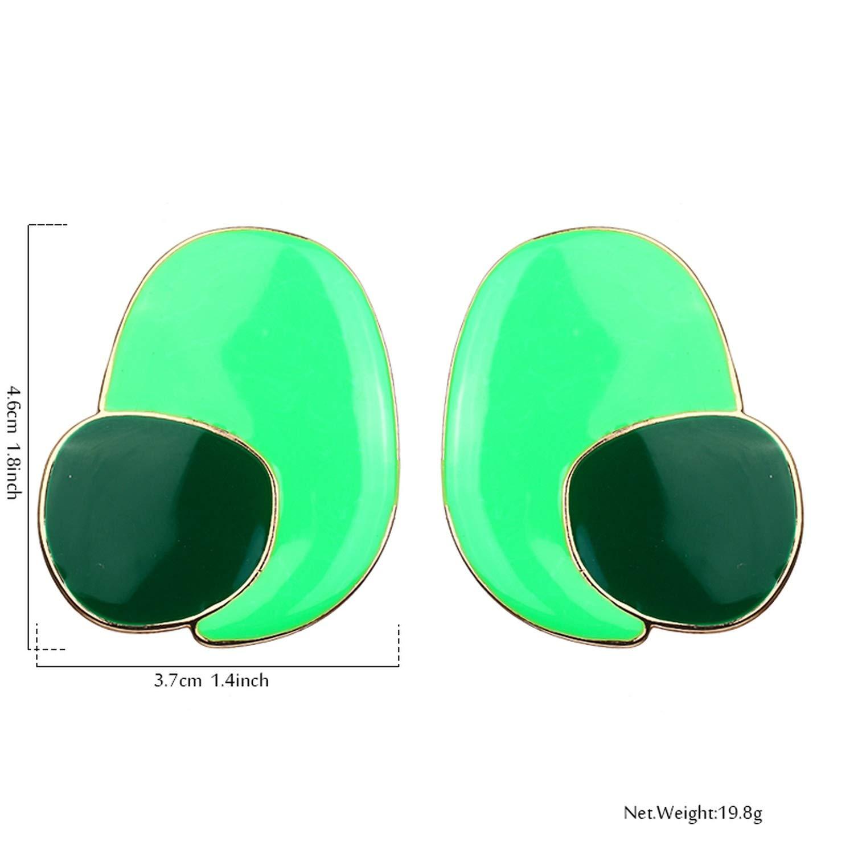 Star T-Show Hyperbole Zinc Alloy Enamel Color Stud Earrings Charm Brincos Pendientes