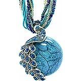 E-darter Les Femmes Vintages De Mode Cristal De Bohême Collier Opale Bijoux Design Rétro Folk-personnalisés