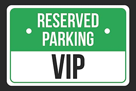 Amazon.com: Parking reservado VIP Verde, Blanco y Negro ...