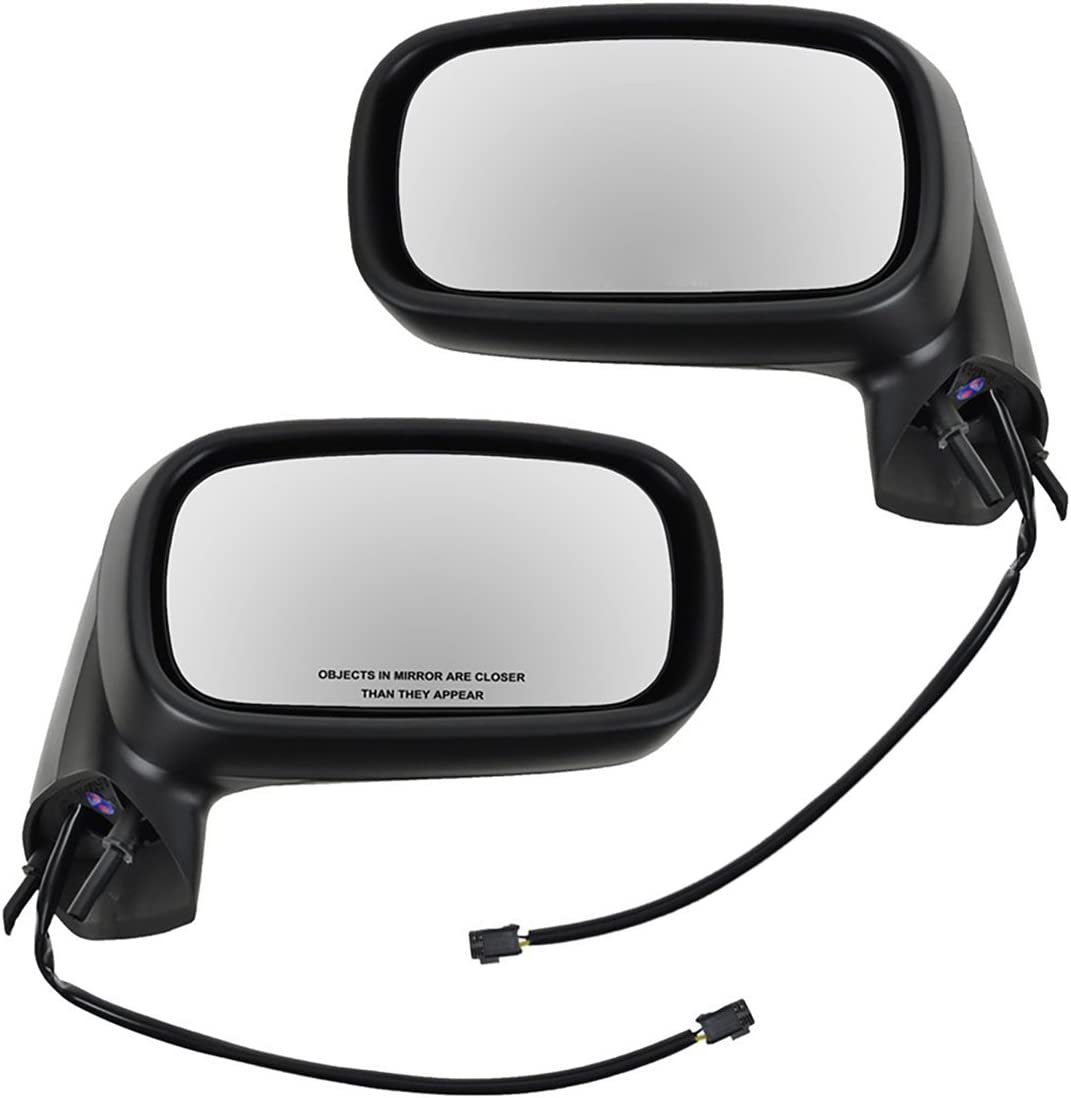 Black Power Side View Mirrors Left /& Right Pair Set for 99-03 Pontiac Grand Am 1A Auto