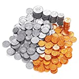 Baby : Blue Panda Pack of 250 Play Coin Set - Includes Half-Dollar, Quarter, Dime, Nickel, Penny Fake Plastic Coins - Pretend Money - Great Teaching Tool, Prop, Kids Toy, 0.98 inches in Diameter