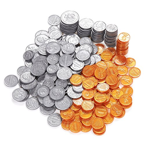 Blue Panda Pack of 250 Play Coin Set - Includes Half-Dollar,