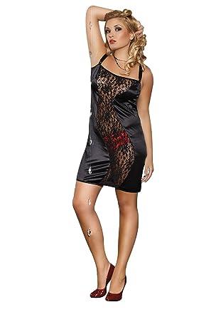 best cheap 76cdd 73257 Sexy Übergrößen Plus Size schwarzes Nachtkleid Margot von ...