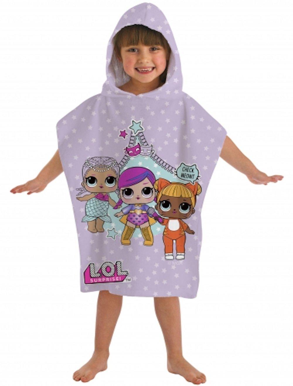 L.O.L. SURPRISE Poncho, Cotone, Pink, 50x115cm Dreamtex Ltd PO3-LOL-THE-20