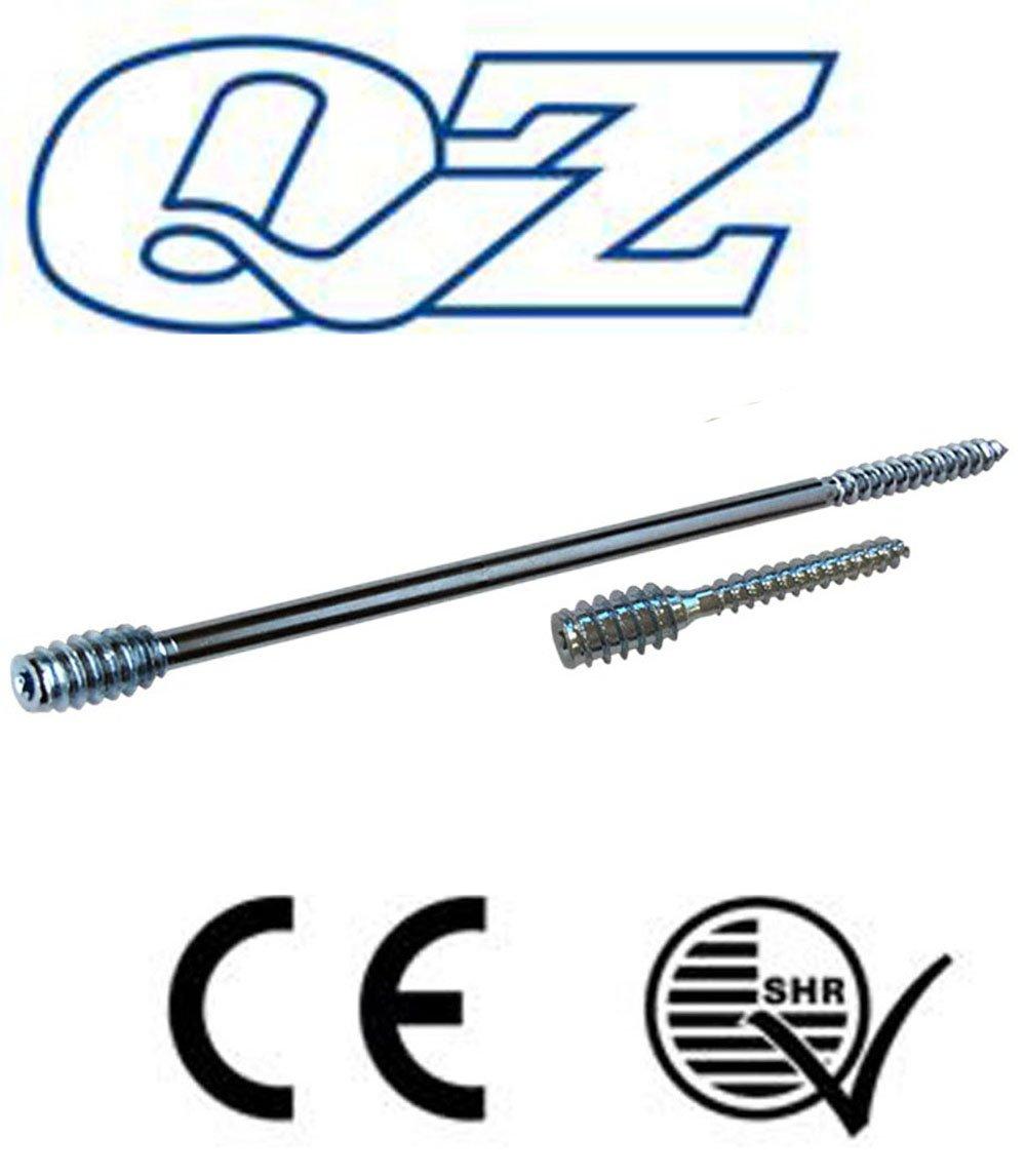 QZ Distanzschrauben 6.0x60//20 TX-25 Stahl verzinkt Justierschrauben Abstandsschrauben 50 Stk