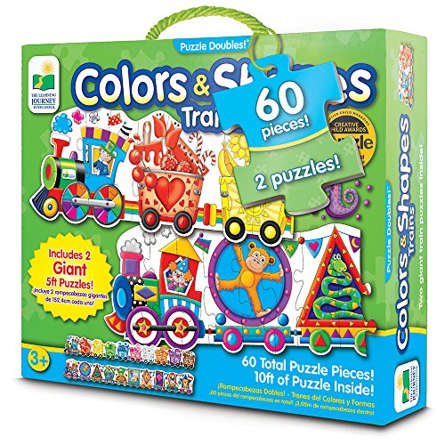 (The Learning Journey: Puzzle Doubles - Giant Colors and Shapes Train Floor Puzzles - 10 ft of Puzzles Inside)