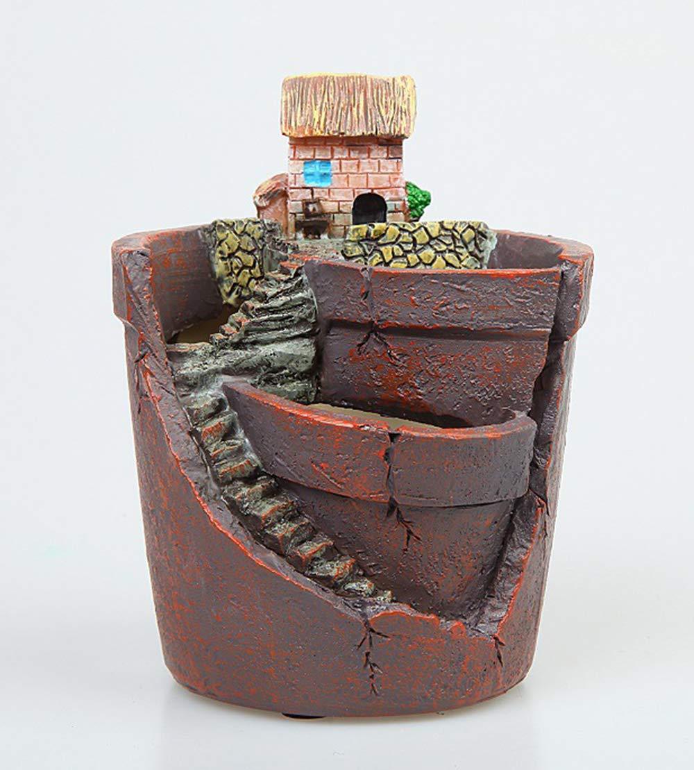 GAOWF Pot De Fleurs Charnu Cactus Résine Ciel Jardin Plante ...