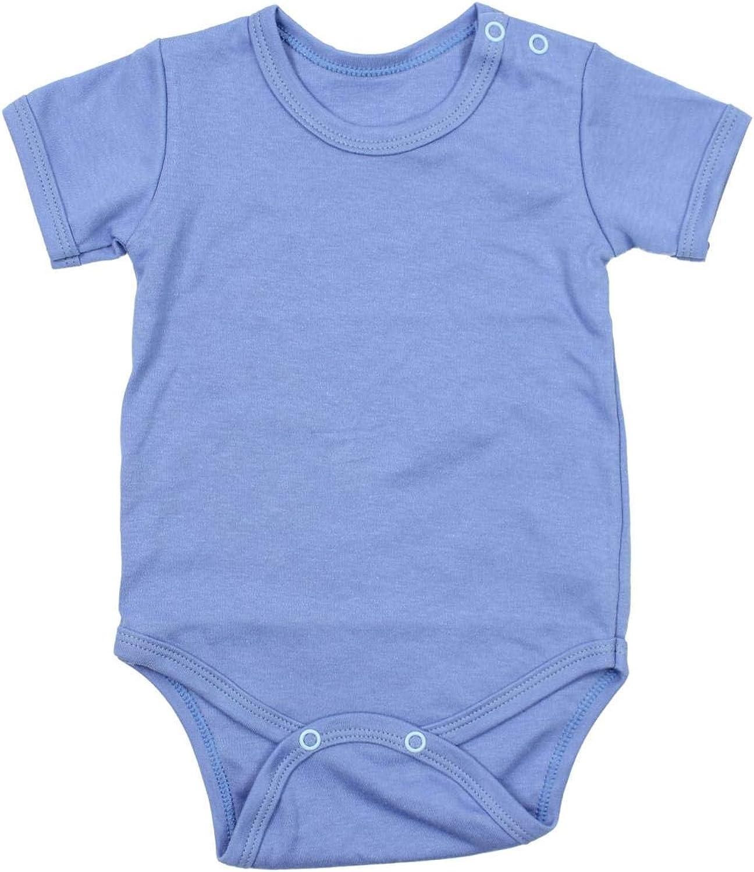 TupTam Baby Boys Bodysuits Short Sleeve Plain Pack of 5