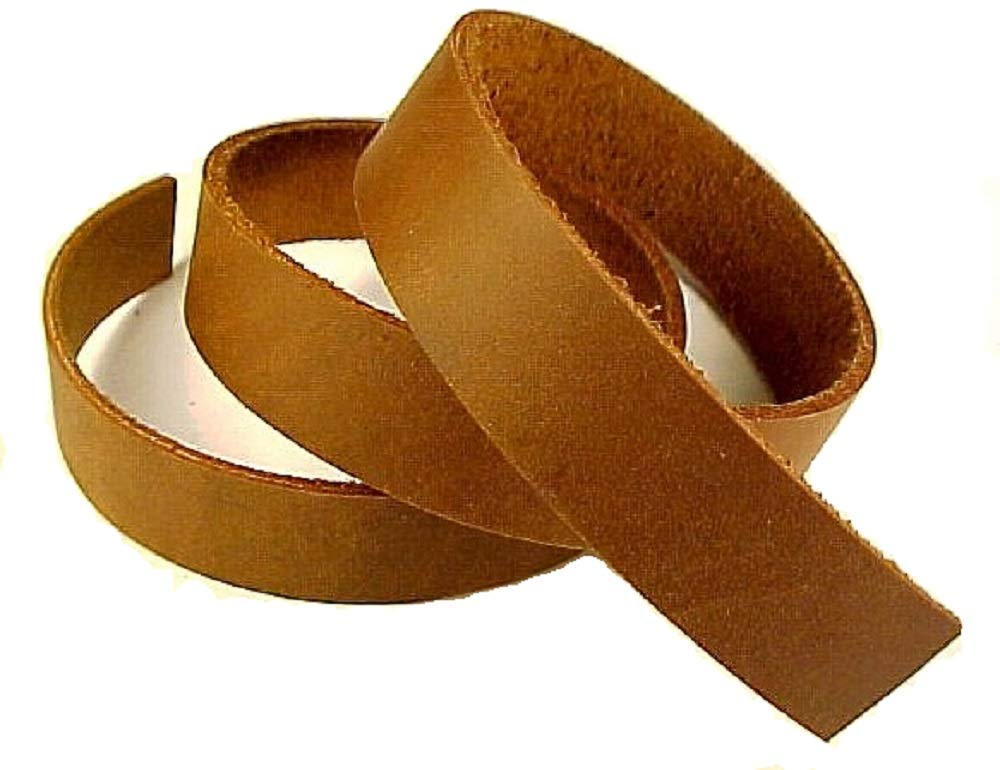1'' x 84'' Brown Oil Tanned Leather Strip 5-6oz LeatherRush by Leather Rush (Image #1)