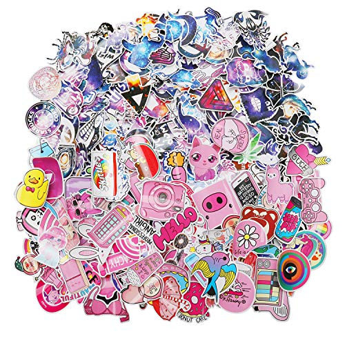 Lovely Laptop Stickers Water Bottle Skateboard Motorcycle Phone Bicycle Luggage Guitar Bike Sticker Decal 200pcs Pack