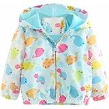 Mud Kingdom Little Girls Boys Cute Hooded Jacket Cartoon Animals Zipper Outerwear