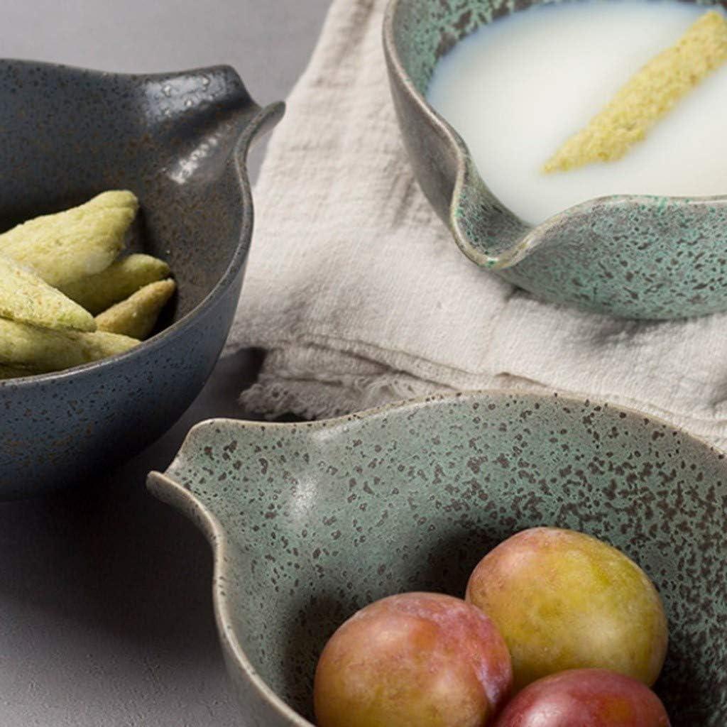 Yardwe Sauce pour Bateau en Porcelaine Bols /à Tremper Plats de Service de Sauce Assiettes /à Dessert Ap/éritif en C/éramique Petit Plat Cr/éatif Assiette /à Collation pour Salade Barbecue