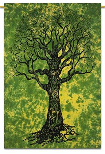 Tree Of Life Wandbehang Indian Baumwolle Tapestry Twin Size Bohemian Décor Werfen 84X56 Zoll