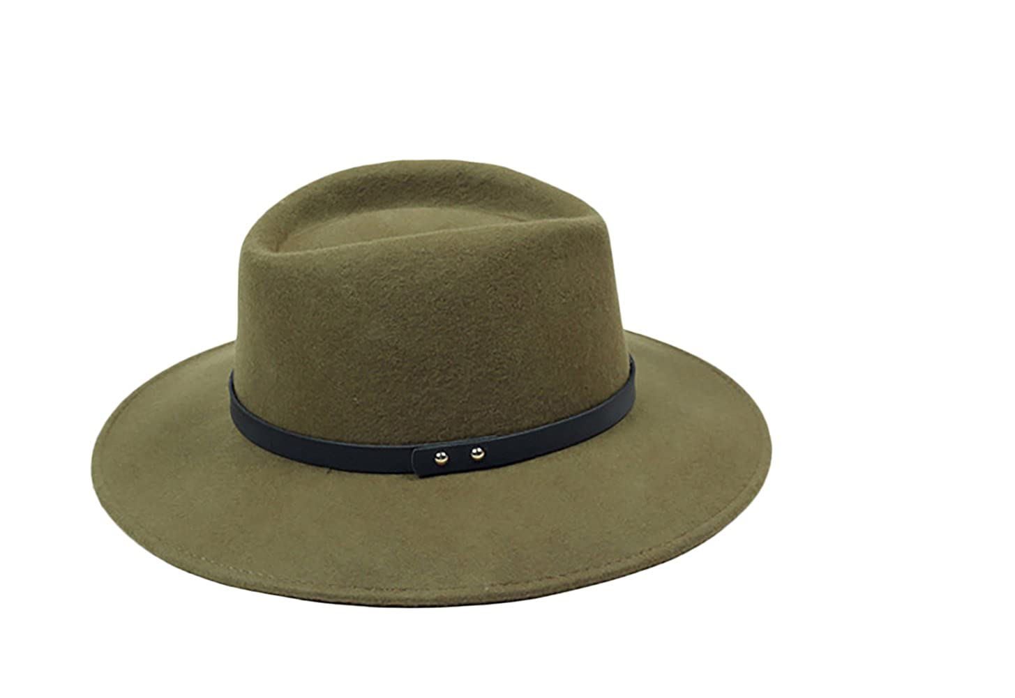 Liveinu Women s 100% Wool Felt Hat Wide Brim Floppy Fedora Hat Jazz Hats  With Belt Green at Amazon Women s Clothing store  325315a038d6