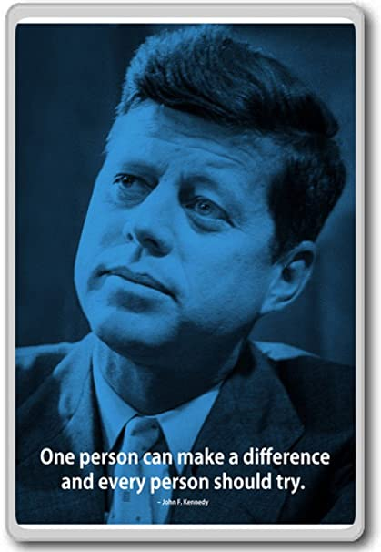 Amazoncom John F Kennedy One Person Can Make A Difference And