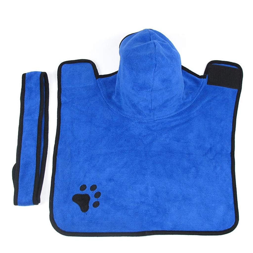 M Pet Quick-drying Bathrobe Dog Bath Towel Cat Absorbent Towel Large Fine Wool Fiber Towel bluee (Size   M)