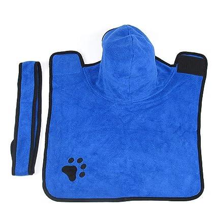 Mascota de Secado rápido Albornoz Perro Baño Toalla Gato Absorbente Toalla de Lana Fina Grande Fibra