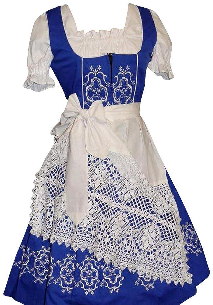 Dirndl Trachten Haus 3-Piece Long German Wear Party Oktoberfest Waitress Dress hbbc1