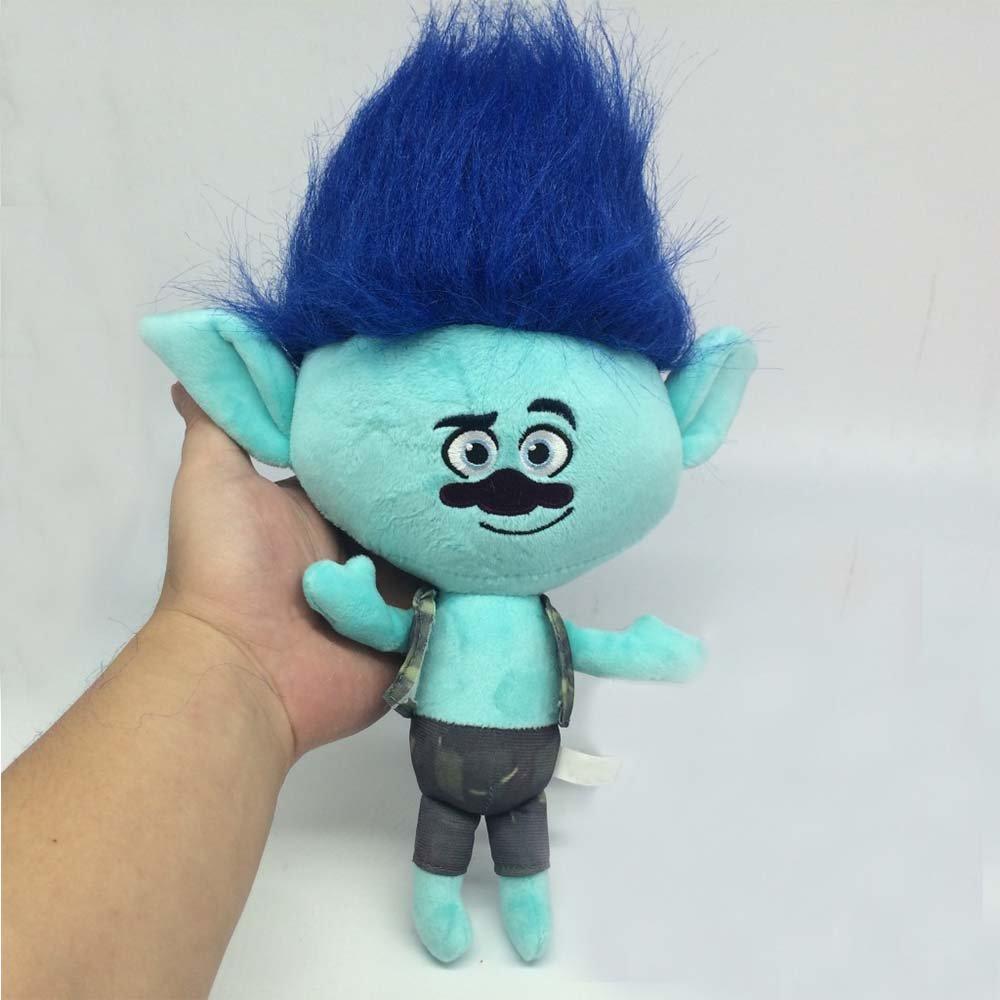 Colorful Trolls Cute Branch Plush Soft Stuffed doll by New Brand