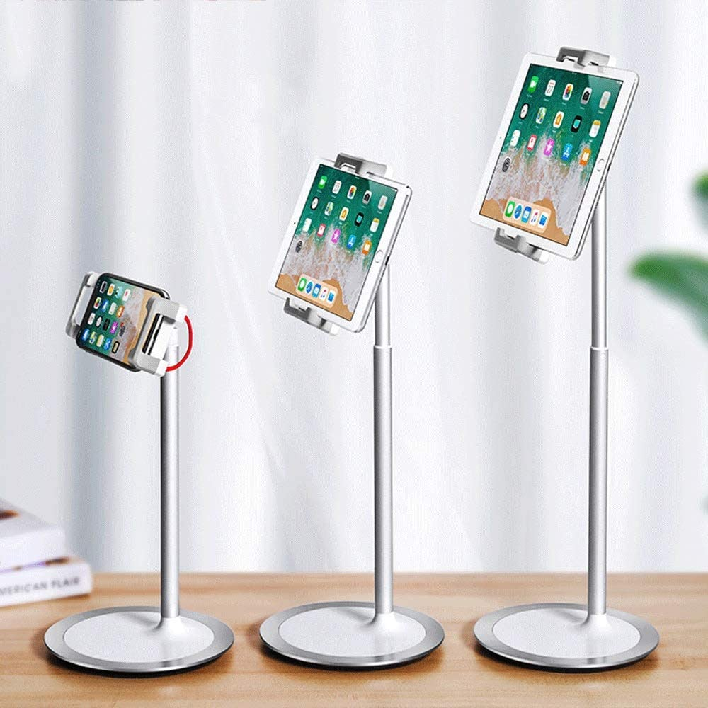 Miyabitors Mobile Phone Tablet Desktop Stand Bedside Lazy Shelf Simple Telescopic Support Frame