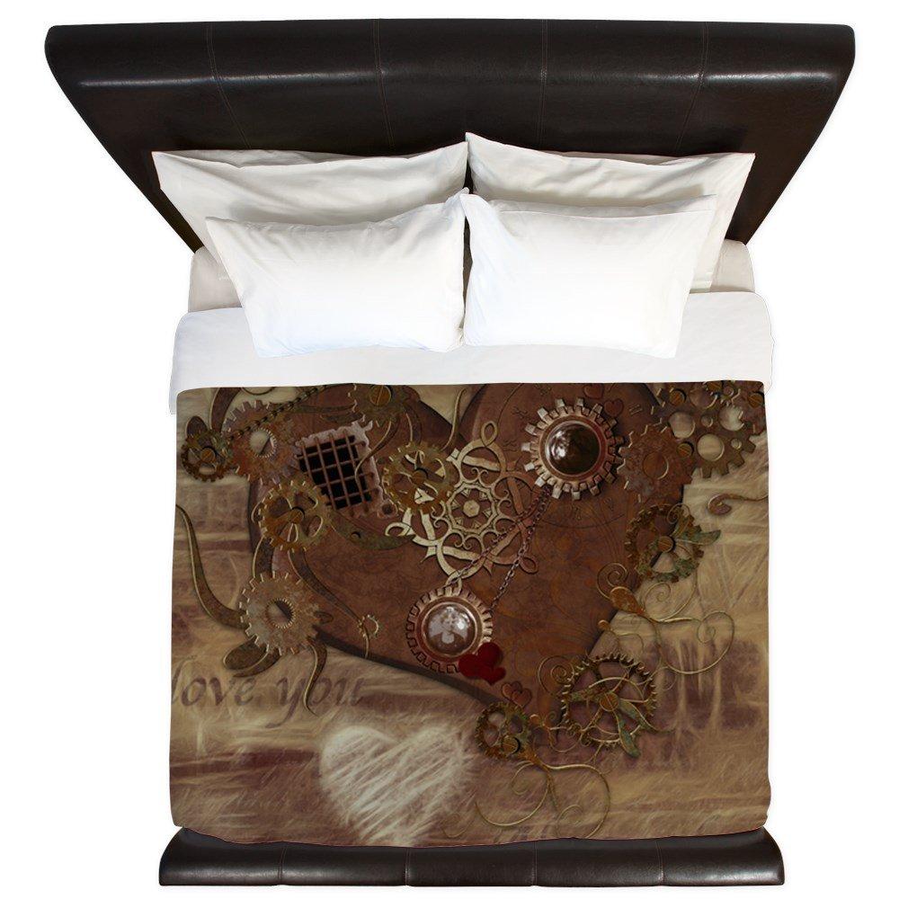 CafePress - Steampunk Love - King Duvet Cover, Printed Comforter Cover, Unique Bedding, Microfiber