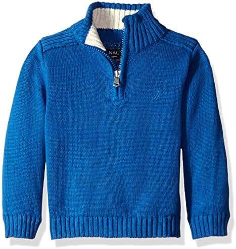 Nautica Baby Boys' Zip Neck 'Freeport' Quarter Zip Sweater