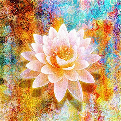 DIY Paint by Diamond Kits for Kids, Adults, Home Room Office Decoration. Gift Presents for Her Him Flower 11.8x11.8in 1 Pack by Juntop