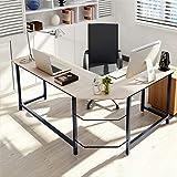 "L-Shaped Desk 50"" Computer Corner Desk, Home Gaming Desk, Office Writing Workstation, Space-Saving, Easy to Assemble…"
