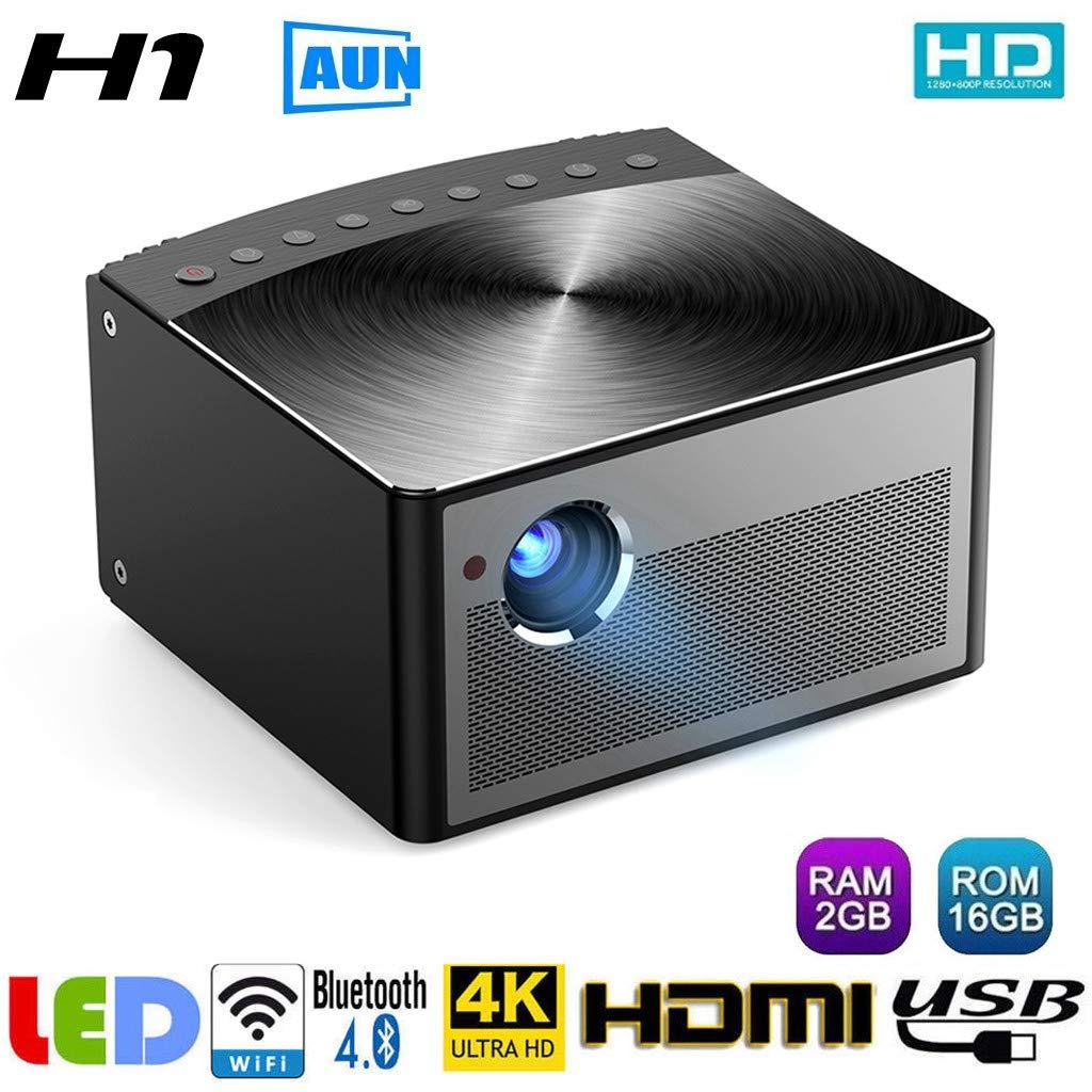 Tianya Mini Beamer,Marca AUN H1 900ANSIDLP proyector Full HD 1080P ...