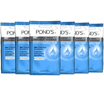 Ponds Original Fresh Wet Cleansing Towelettes, With Vitamin E, 30 Towelettes (Pack of