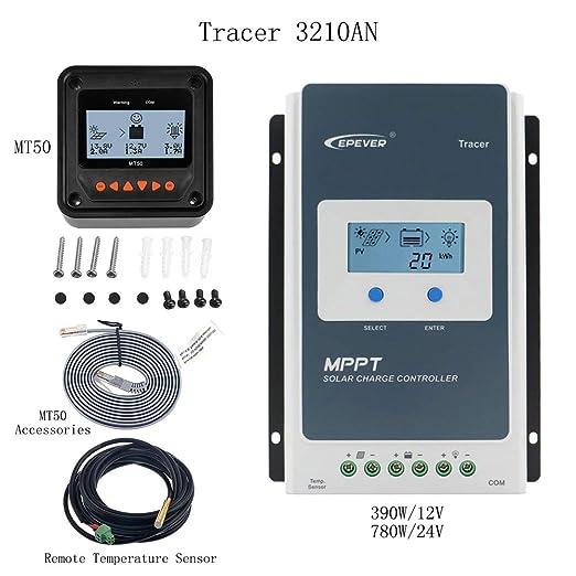 3 opinioni per epever® Solar Regolatore di carica MPPT Tracer (30A+MT50+RTS)