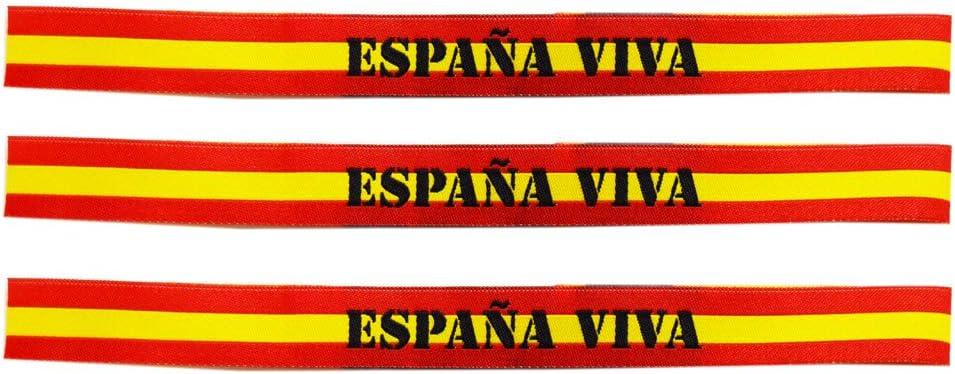 Pulsera Tela España. España Viva. Medida: 30 x 1.5 cm: Amazon.es ...