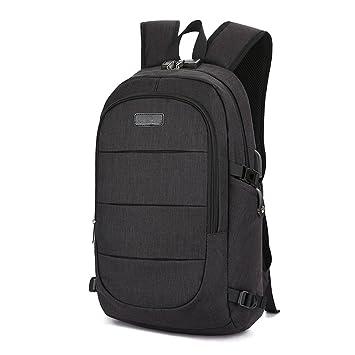 BstAmzStore 3in 1 Laptop BackpackUSB Backpack Bookbag With Lock Multiple Pockets Headphone