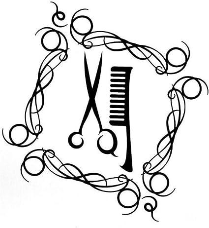 Pegatina para el parachoques del coche de la etiqueta Moda Barbería Tijeras Cepillo para el pelo Vinilo Etiqueta de coche 14.2CM * 15.2CM 2 piezas: Amazon.es: Bricolaje y herramientas