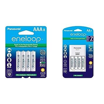 Amazon.com: Panasonic BK-4MCCA8BA Eneloop AAA 2100 Ciclo Ni ...