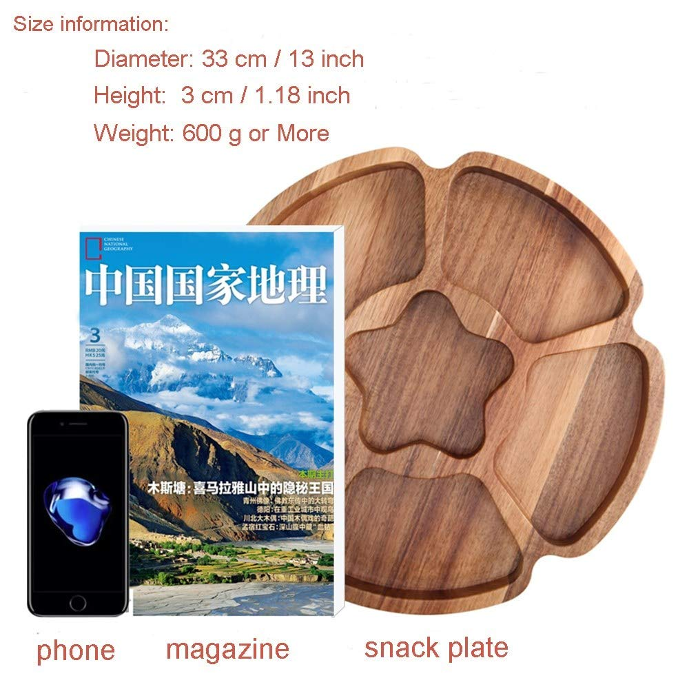 BananaShop99 - New Solid Natural Wooden Food Storage Tray Acacia Texture Kitchen