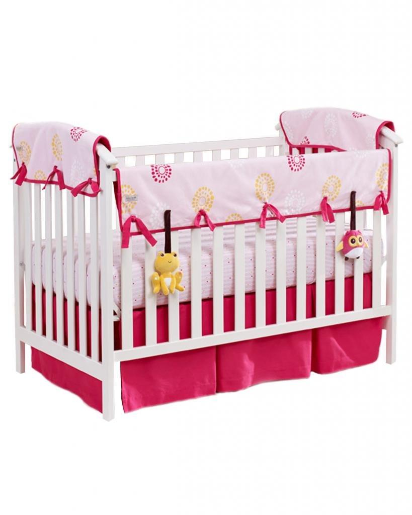 """Babee Talk Eco-Teether Crib Bedding Satz 51""""X 12"""" Pink"""