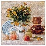 """backsplash tile pictures Still life flowers fruits apples by Vincent van Gogh Accent Tile Mural Kitchen Bathroom Wall Backsplash Behind Stove Range Sink Splashback One Tile 12"""" Ceramic, Glossy"""