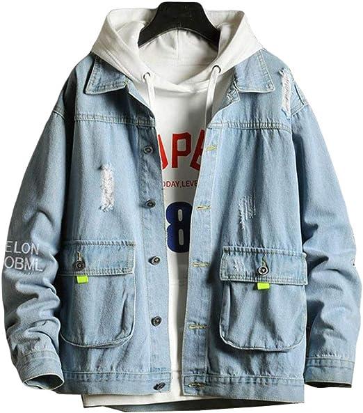 Aisaidunメンズ コート ジャケット 春 秋 メンズ デニム ジージャン 長袖 通勤 通学 メンズ デニム Gジャン ファッション カジュアル アウター