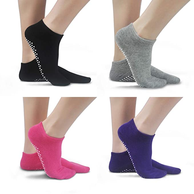 Non Skid Slip Sticky Grippers Socks Pilates Ballet Barre Yoga Socks for Women
