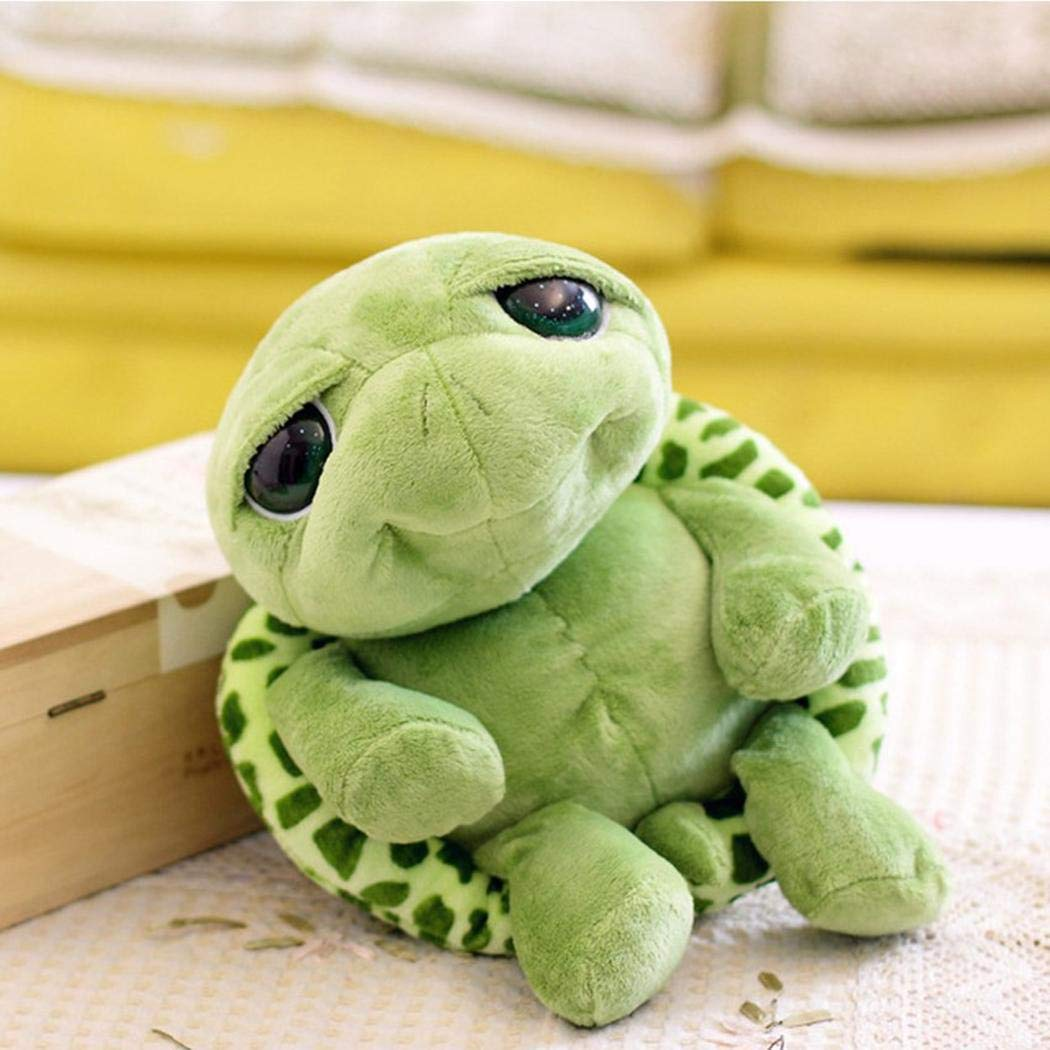 Pinsparkle Unisex Children Durable Soft Tortoise Shape Plush Toy Home Entertainment Toy Stuffed Animals & Teddy Bears