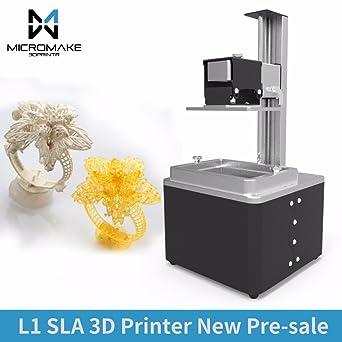 2017 Micromake nuevo L1 impresora 3d SLA de alta precisión ...